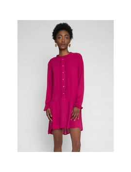 Oversized Drop Waist Dress In Pink by Wet Seal