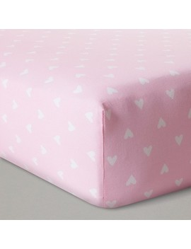 Fitted Crib Sheet Hearts   Cloud Island™   Pink by Shop Collections