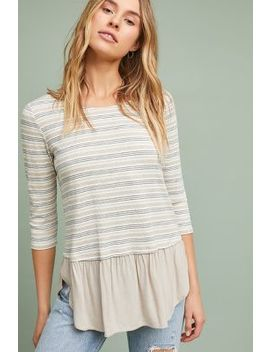 Ambergris Striped Top by Pure + Good