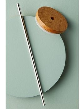 Bamboo Tumbler Lid + Straw by Anthropologie