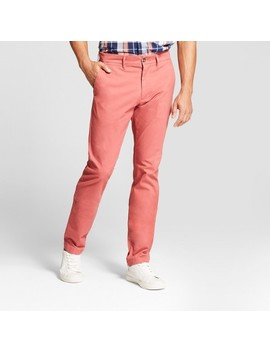 Men's Slim Fit Hennepin Chino Pants   Goodfellow & Co™ Dusty Red by Goodfellow & Co™