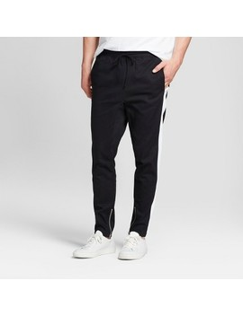Men's Drop Crotch Twill Jogger Pants   Jackson™ Black & White by Jackson