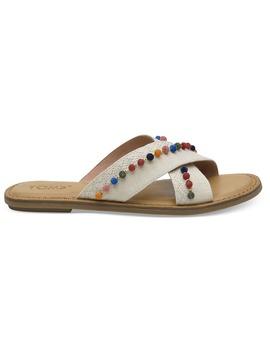 Natural Hemp Pom Poms Women's Viv Sandals by Toms