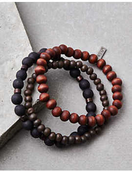 Aeo Black &Amp; Brown Bead Bracelet Set by American Eagle Outfitters