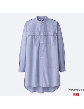 Men Jwa Stand Collar Long Sleeve Shirt by Uniqlo
