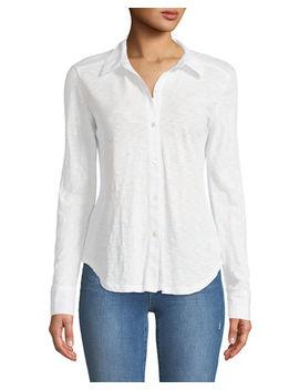 Riduro C Nebulous Cotton Button Front Shirt by Theory