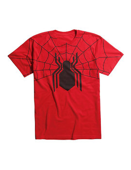 Marvel Spider Man: Homecoming Logo Web T Shirt by Hot Topic
