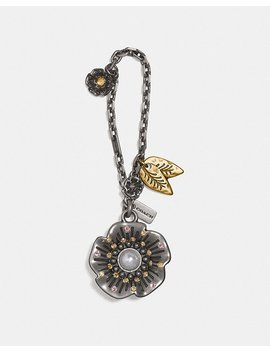 Studded Tea Rose Bag Charm by Coach
