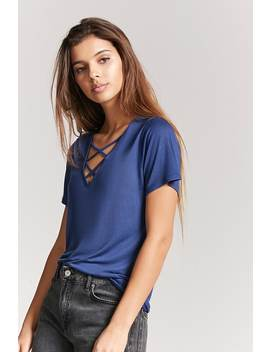 V Neck Crisscross Top by F21 Contemporary