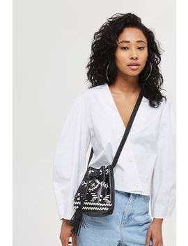 Rodeo Leather Bucket Bag by Topshop