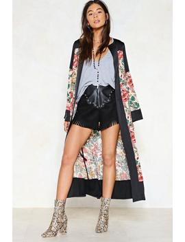 Good Natured Floral Kimono by Nasty Gal