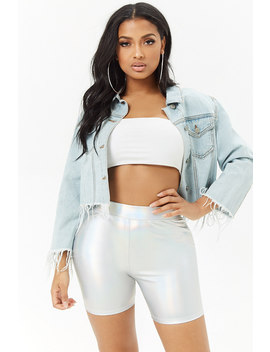 Metallic High Rise Shorts by Forever 21