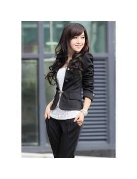 Solid Color Bowknot Embellished Short Blazers by Dress Lily