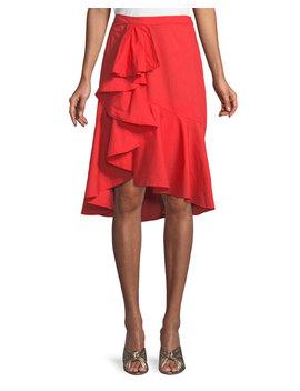 Chesmu Poplin Ruffle Skirt by Joie