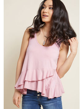 Up And Rufflin' Tank Top In Dusty Rose Up And Rufflin' Tank Top In Dusty Rose by Modcloth