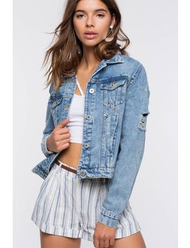 Gemma Stone Denim Jacket by A'gaci