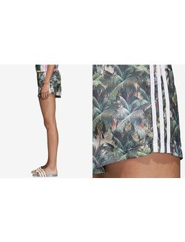Satin Printed High Waist Shorts by Adidas Originals