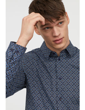 Slim Fit Patterned Shirt by H&M
