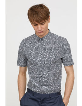 Slim Fit Short Sleeved Shirt by H&M