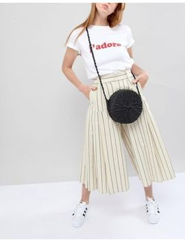 Pull&Bear Circle Woven Bag In Black by Pull&Bear