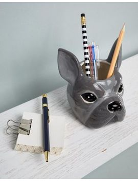 Typo Bulldog Face Pen Holder by Typo
