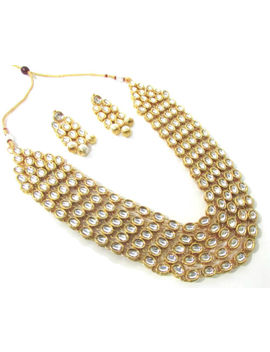 New Fashion Designer Sassy Jewelry Indian Kundan 5 Layer Necklaces Statements by Unbranded