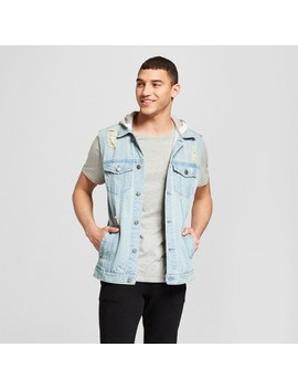 Men's Destructed Denim Trucker Vest   Jackson™ Light Indigo by Jackson