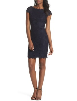 Cap Sleeve Lace Sheath Dress by Eliza J
