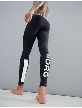 Bjorn Borg Performance Tights In Black by Bjorn Borg