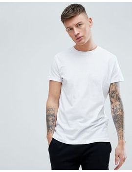Pull&Bear Organic Cotton Basic T Shirt In White by Pull&Bear