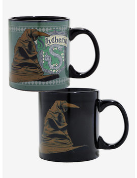 Harry Potter Slytherin Sorting Hat Heat Reveal Mug by Hot Topic