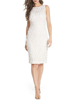 Appliqué Lace Sheath Dress by Eliza J