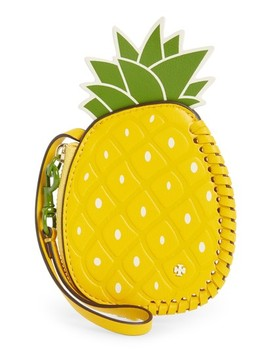 Pineapple Leather Coin Pouch by Tory Burch