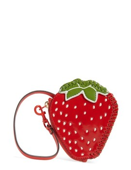 Strawberry Leather Coin Pouch by Tory Burch