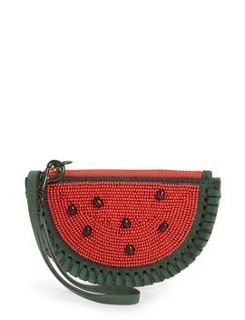 Watermelon Leather Coin Pouch by Tory Burch