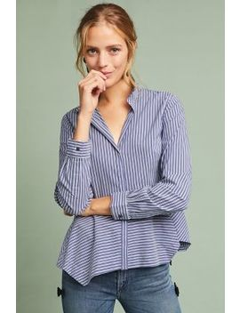 Striped Peplum Shirt by Heartloom