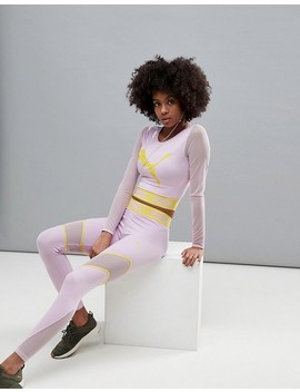 Puma Exclusive To Asos Active Long Sleeve Mesh Top In Lilac by Puma
