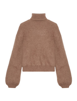 Cropped Silk Blend Turtleneck Sweater by Tom Ford
