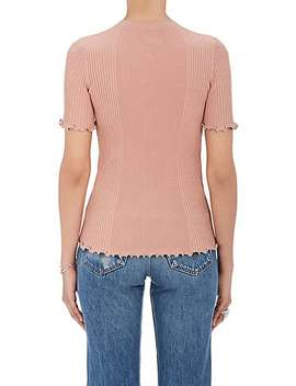 Embellished Cotton Rib Knit Top by Alexander Wang