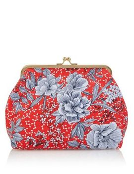 Water Colour Floral Cosmetic Purse by M&S Collection