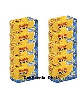10 Rolls Kodak Gc 135 24 Max 400 Color Print 35mm Film Iso 400 (Pack Of 10) by Kodak