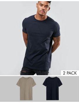 Asos – Lang Geschnittene T Shirts Im 2er Pack, Jetzt Sparen by Asos