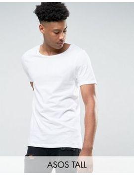 Asos Tall – Langes T Shirt Mit U Ausschnitt In Weiß by Asos Tall