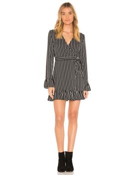 Ophelia Stripe Wrap Mini Dress by The Fifth Label