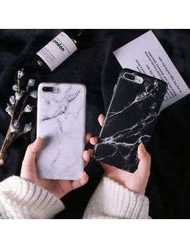 Black White Marble Texture Shockproof Soft Tpu Case Cover For I Phone X 8 7 Plus by Unbranded/Generic