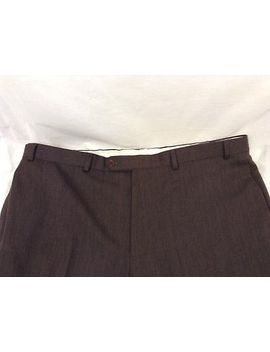 Brooks Brothers Pants 42x30 Brown Flat Front 100 Percents Wool Mint A244 by Brooks Brothers