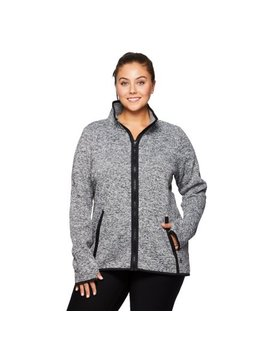 Rbx Active Women's Plus Size  Fleece Lined Tunic Sweater Jacket by Rbx