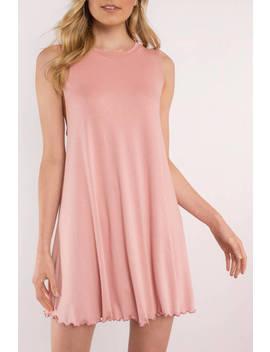 Shay Blush Shift Dress by Tobi