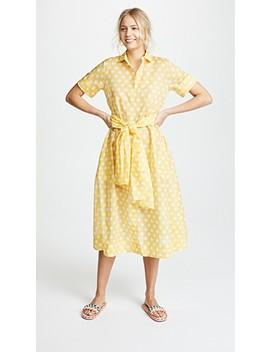 Sheer Cotton Shirt Dress by Lisa Marie Fernandez