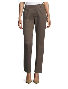 Thompson Elliptical Jacquard Slim Leg Jeans by Lafayette 148 New York